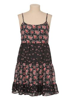 Mixed floral print babydoll dress (original price, $39) available at #Maurices
