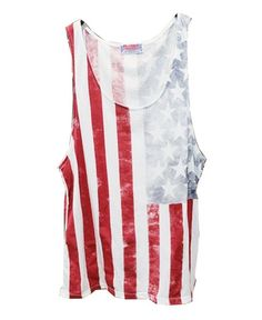 American Flag Print Tanks