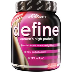 Vital Strength Define Women's Protein Powder 1kg is vital to women's health. Description from ebay.com.au. I searched for this on bing.com/images