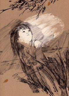 "Ilustração livro ""Cindy's Sad and Happy Tree"". by Ati Forberg (1967)."