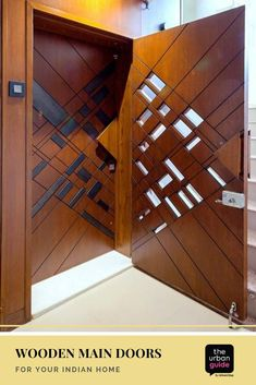 Wooden Main Door Design, Double Door Design, Front Door Design, Wooden Cupboard, Wooden Doors, Indian Main Door Designs, Independent House, Bedroom False Ceiling Design, Door Design Interior
