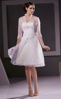 Size M Girls White Sheer Organza Bolero Jacket 7-10