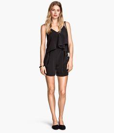H&M Conscious Spring 2015 Black Tiered Jumpsuit