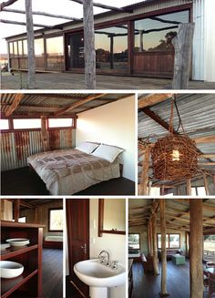 Old shearing shed converted to farm-stay accommodation Gingin Western Australia. Our first inspiration post for The Junk Map! Shed Interior, Interior Design, Shed Plans, House Plans, Shed Conversion Ideas, Barn Conversions, Converted Shed, Farm Shed, Farm House