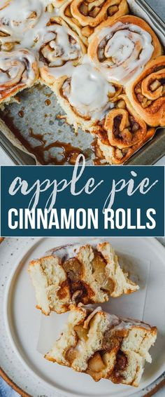 Apple Pie Cinnamon Rolls with Cream Cheese Icing | Gimme Delicious Desserts For A Crowd, Winter Desserts, Party Desserts, Delicious Desserts, Cinnamon Pie, Cinnamon Rolls, Hot Chocolate Fudge, Chocolate Recipes, Brunch Recipes