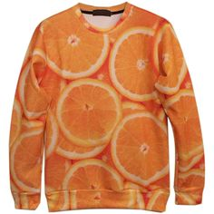Choies 3D Unisex Orange Digital Fruit Printing Sweatshirt ($34) ❤ liked on Polyvore featuring tops, hoodies, sweatshirts, orange, sweatshirt, orange top, sweat tops, orange sweatshirt, sweatshirts hoodies and sweat shirts