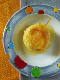 creme caramel all'arancia