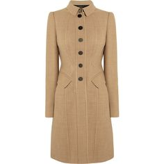 Burberry Prorsum Wool-blend coat ❤ liked on Polyvore