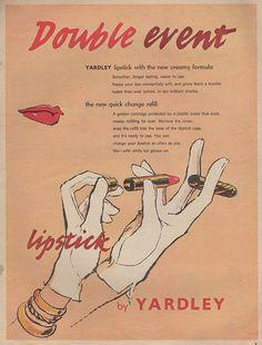 Yardley lipstick, 1956