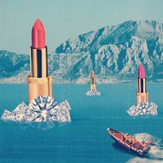 Lipstick and Diamonds Iceberg Collage #surreal - Carefully selected by GORGONIA www.gorgonia.it