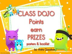 Class Dojo Posters and Prize Booklet Freebie - Goodwinnovate Class Dojo App, Class Dojo Rewards, Behavior Incentives, Classroom Discipline, Classroom Behavior Management, Student Behavior, Behaviour Management, Class Management, Behavior Plans