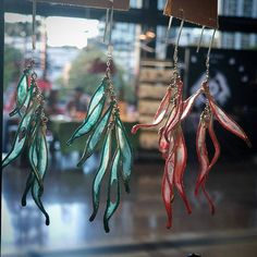 Petal Drops Paper Earrings by VERSO Jewelry #VERSOJewelry #paperjewelry #paperearrings