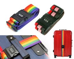 $8 for a Luggage Strap With Combination Lock- Choose from 2 Styles Combination Locks, Luggage Straps, Best Deals Online, Style