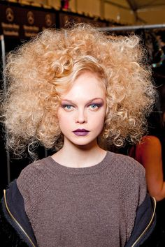 Runway hair! Lol or what my curly hot mess hair looks like all the time