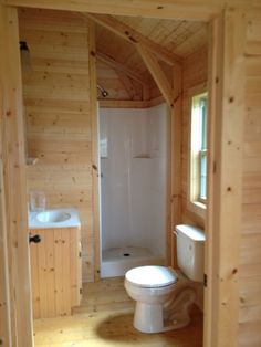"Explore our web site for even more relevant information on ""laundry room storage small spaces"". It is actually a superb location to learn more. Lofted Barn Cabin, Shed Cabin, Cabin Kits, Tiny House Cabin, Tiny House Living, Tiny House Design, Small House Plans, Cabin Plans, Small Cabin Bathroom"