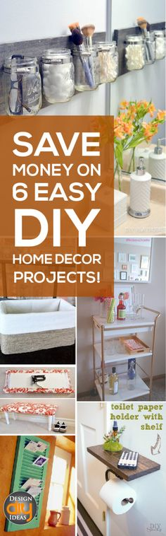 Save Money on these 6 Easy DIY Home decor projects that beautify any home!
