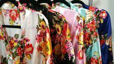 Floral Bridesmaid Robes Kimono
