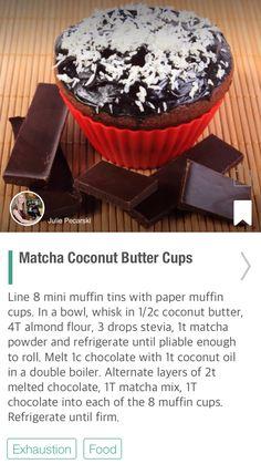Matcha Coconut Butter Cups - via @CureJoy