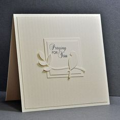 I make so many sympathy cards - but usually they are for our church card ministry and I don& know who will be receiving them. Hand Made Greeting Cards, Making Greeting Cards, Greeting Cards Handmade, With Sympathy Cards, Christian Cards, Cricut Cards, Bird Cards, Get Well Cards, Cute Cards