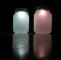 #solar #lamps using mason #jars DIY: 85 Mason Jar #Crafts You Will Love | the perfect line