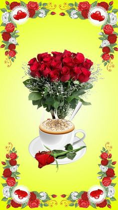 Discover & share this Animated GIF with everyone you know. GIPHY is how you search, share, discover, and create GIFs. Good Morning Beautiful Pictures, Good Morning Images Flowers, Good Morning My Love, Good Morning Coffee, Morning Blessings, Good Morning Messages, Good Night Quotes, Coffee Love, Birthday Greetings