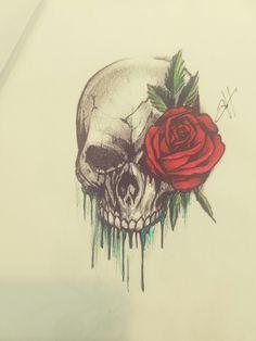 Tattoo Sleeve Designs, Sleeve Tattoos, Art Drawings Sketches, Cool Drawings, Broken Heart Sketch, Tatto Skull, Angel Drawing, Skull Artwork, Skulls And Roses
