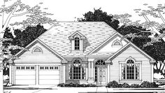 Eplans European House Plan - Three Bedroom European - 2002 Square Feet and 3 Bedrooms from Eplans - House Plan Code HWEPL74246