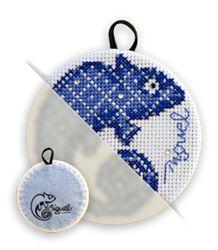 Papillote bleue, #swarovski et #brillo <3