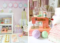 Cute as a button birthday party shower up close details