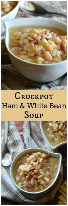 This Crockpot Ham & White Bean Soup is an easier, set it and forget it variation of the classic. It's super simple with a very short ingredient list, which can make it quite a delightful surprise when you first dig in and discover just how incredibly flavorful it is.
