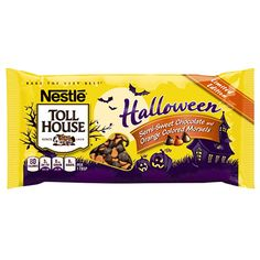 Halloween Brownies, Halloween Desserts, Halloween Treats, Chocolate House, Dark Chocolate Chips, Chocolate Chip Cookies, Refrigerated Cookie Dough, Frozen Cookie Dough, Orange Frosting
