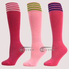 Pink Kids Athletic Football Sock : COUVER SWEATBANDS & SOCKS