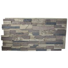 Faux Stacked Stone or Redwood Siding - Superior Building Supplies Rustic Lodge 24 in. x 48 in. Faux Tennessee Stack Stone - The Home Depot Stone Siding Panels, Faux Stone Siding, Stone Veneer Panels, Stone Backsplash, Backsplash Ideas, Hexagon Backsplash, Travertine Backsplash, Beadboard Backsplash, Stairs