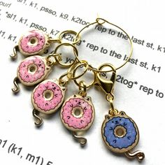 Donut Cat, Cat Ring, Stitch Markers, Crafty, Personalized Items, Gifts, Presents, Favors, Gift
