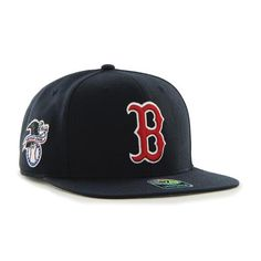 d66a5e6da4f27 Grab this 47 Brand Navy Blue Boston Red Sox Sure Shot 47 Captain Youth Cap!