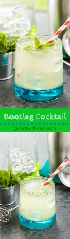 Bootleg Cocktail - A classic and refreshing Minnesota summertime drink that can be made with gin, vodka or rum. ~ http://www.garnishwithlemon.com
