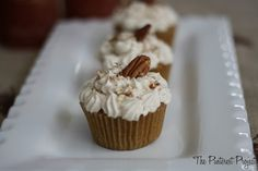 Pumpkin Cupcakes with Cinnamon Cream Cheese Frosting by Pinterest Project