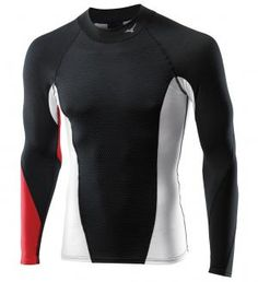 Mizuno Breath Thermo Virtual Body M T-shirt - Vêtements homme running Manches longues Mizuno Golf Fashion, Sport Outfits, Body, Wetsuit, Breathe, Tights, T Shirt, Running, Tees