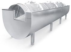 Tingidor e Resfriador para Salsicha, feito em Aço Inox, funcionamento contínuo, trabalha em três estágios, Incluí Quadro de Comando.