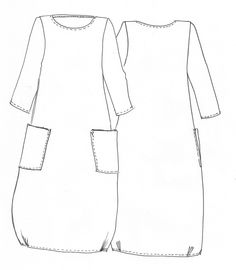 Lily Linen Dress Pattern - Patterns - Tessuti Fabrics - Online Fabric Store - Cotton, Linen, Silk, Bridal & more