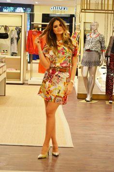 Apaixonada por este vestido da coleção de verão LE LIS BLANC - www.blogdathassia.com.br