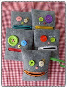 big green eye monster pouch. $10.00, via Etsy. cute