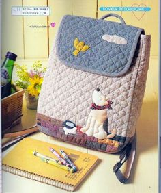 lovely patchwork - Yolanda J - Álbuns da web do Picasa Japanese Patchwork, Japanese Bag, Patchwork Bags, Quilted Bag, Fabric Bags, Fabric Scraps, Bag Quilt, Backpack Pattern, Diy Couture