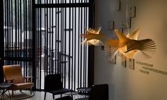 LZF Lamps |Minimikado, Suspension Lamp. Caro Hotel Bar | Wood touched by Light | Handmade Wood Lighting since 1994