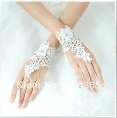 formele trouwjurk accessoires 2013 nieuwe aankomst kant formele kleding vingerloze bruids handschoenen abby geen 024