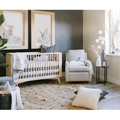 We create modern and eco-friendly solid wood cribs, dressers, changing trays and more high-quality baby furniture. Shop our solid wood baby nursery furniture! Nursery Twins, Baby Nursery Neutral, White Nursery, Baby Nursery Decor, Nursery Furniture, Baby Bedroom, Baby Boy Rooms, Baby Boy Nurseries, Baby Decor