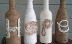 Tutorial per decorare vasi e bottiglie con lo spago.  #decoupage #faidate #decorare