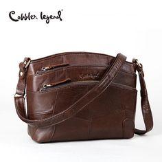 Cobbler Legend Multi Pockets Vintage Genuine Leather Bag Female Small Women Hand #Undisclosed #Crossbody