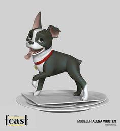 Disney Big Hero 6 and Feast Zbrush Characters, Disney Big Hero 6 and Feast Zbrush Characters by Zack Petroc, Zack Petroc, Big Hero Feast, Zbrush Zbrush Character, Character Modeling, 3d Character, 3d Dog, 3d Models, Disney Fan Art, Disney Style, Big Hero 6, Character Design References