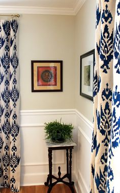 Drop Cloth Curtains - stencil and fabric paint